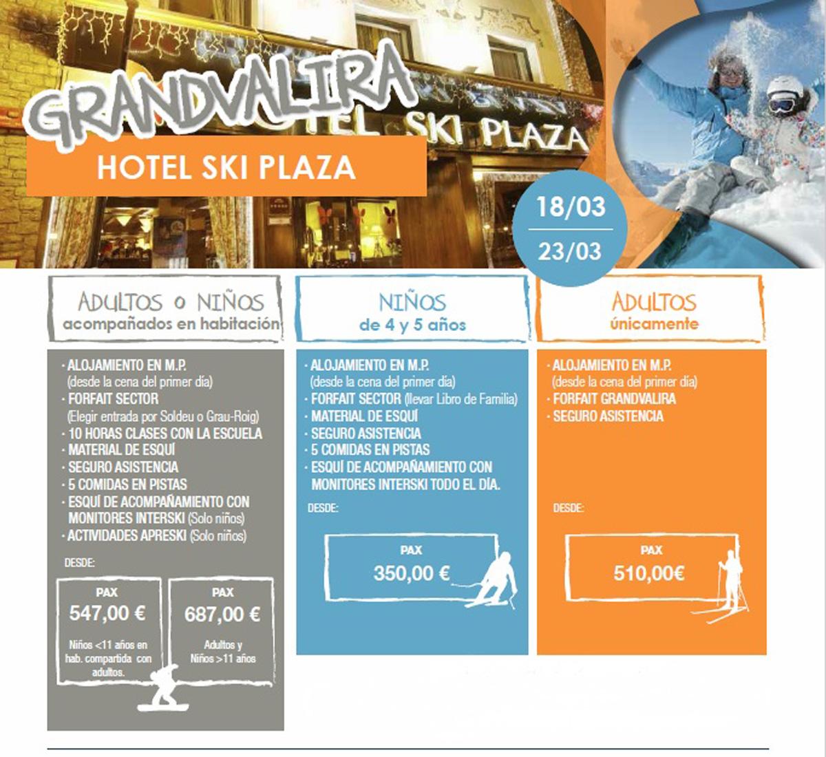 Viajes de esquí en familia, Hotel SKI Plaza